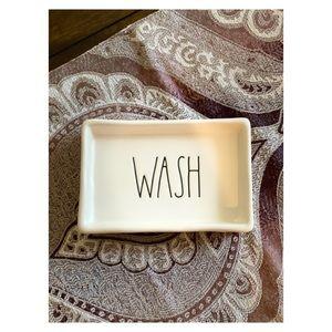 "Rae Dunn ""Wash"" Soap Dish For Bathroom or Kitchen"